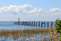 Pilings Near St. Marks Lighthouse