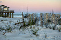 Beach Fence at Dusk