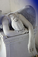 The Weeping Angel in Metairie Cemetery